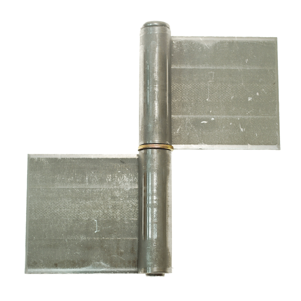 Pressed Pivot Pin : Part pressed flag hinge with removable pin