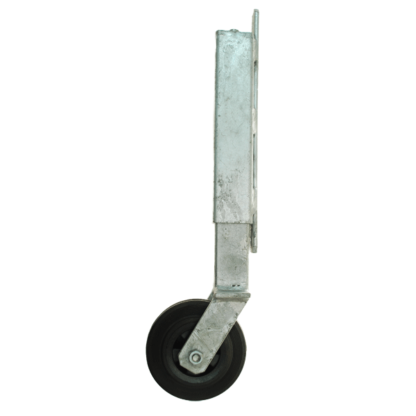 Gate wheel with enclosed spring