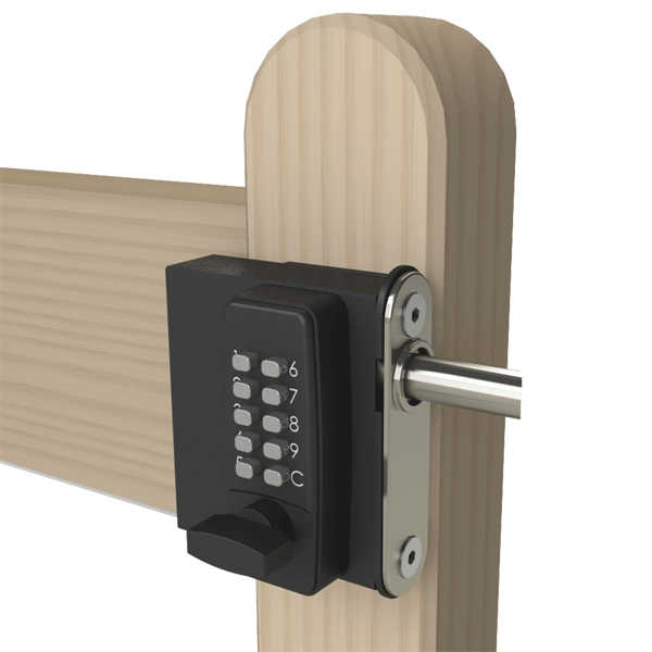 Gatemaster surface mounted digital locks gate hardware for Surface lock
